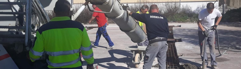 cimentación de las nuevas Naves Industriales de Úbeda en San Martín de la Vega. Madrid